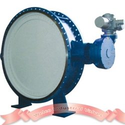 Large triple offset butterfly valve