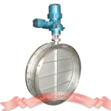 Concentric disc butterfly valve with motor