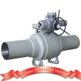Fully welded ball valve for pipeline