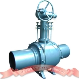 Fully welded ball valve with extension stem