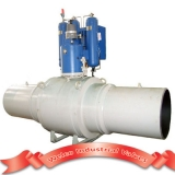 Gas over oil pipeline ball valve