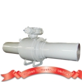 Pipeline ball valve with gear operated