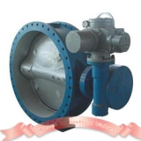 PN16 double flange butterfly valve with motor