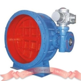 Large motorized butterfly valve
